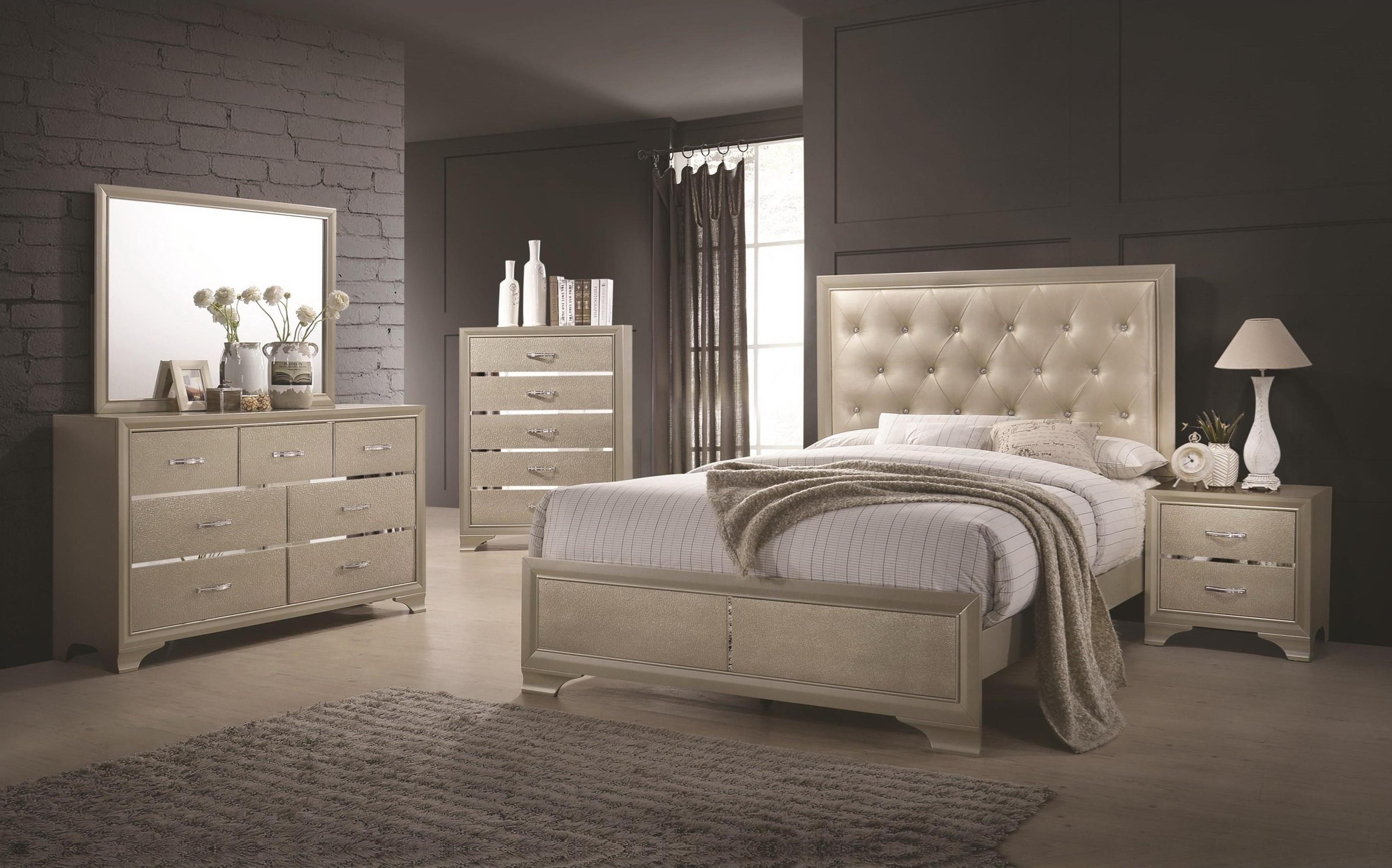 beaumont glamorous bedroom collection  las vegas