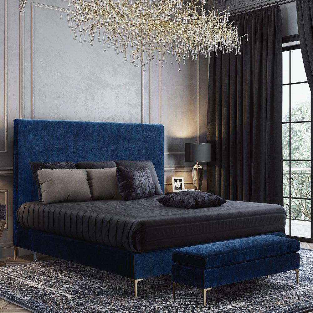 delilah blue velvet bed las vegas