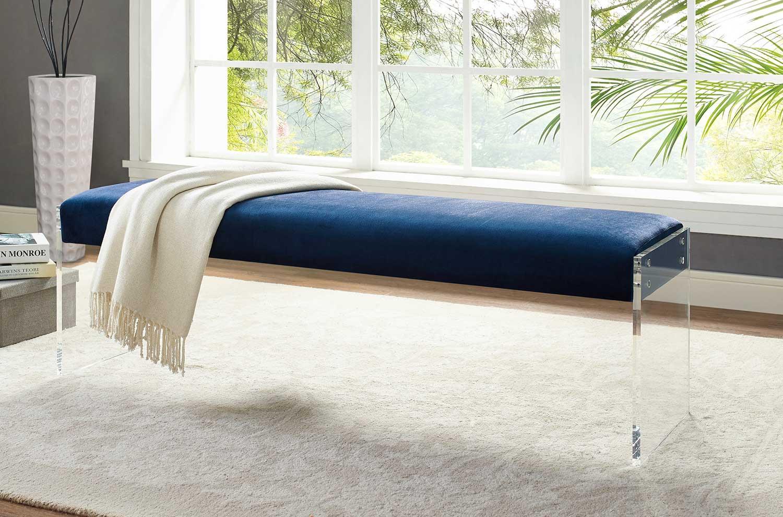 envy blue velvet bench las vegas