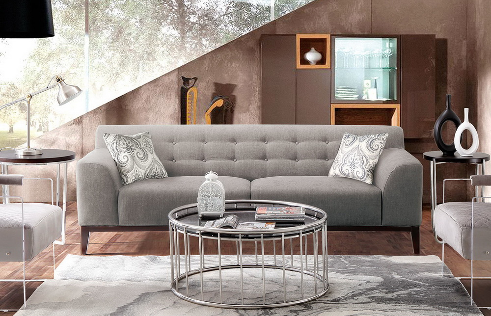 Marquee Moonstone Fabric Sofa Las Vegas Furniture Store