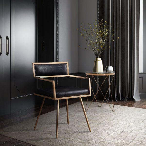 Marquee Croc Arm Chair Collection Las Vegas Furniture