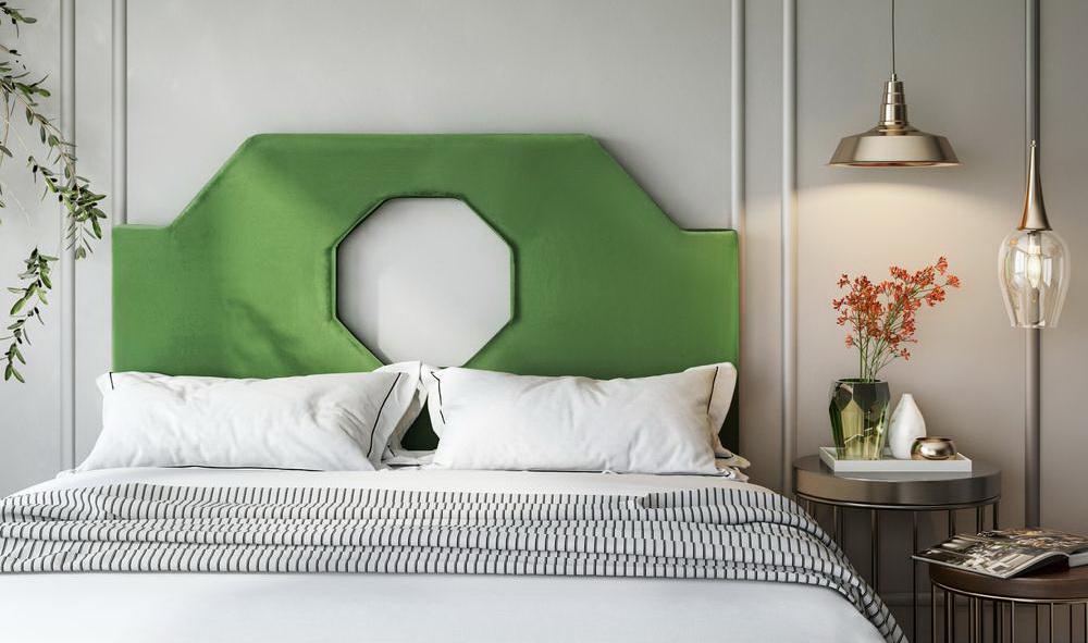 noctis green velvet headboard las vegas