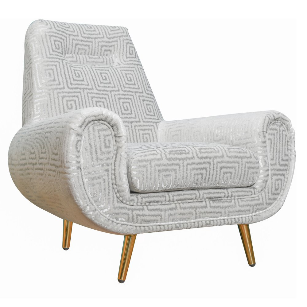 piper silver patterned accent chair las vegas