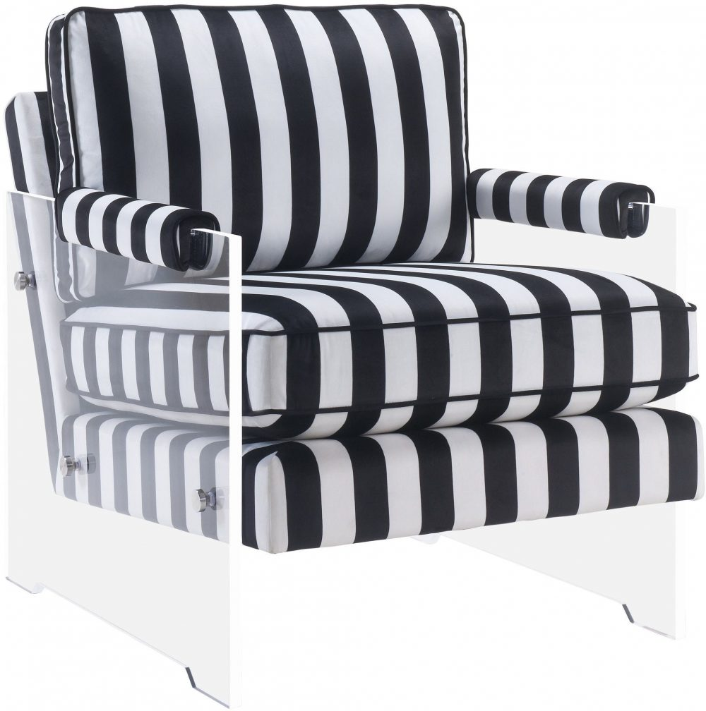 serena black and white velvet accent chair las vegas