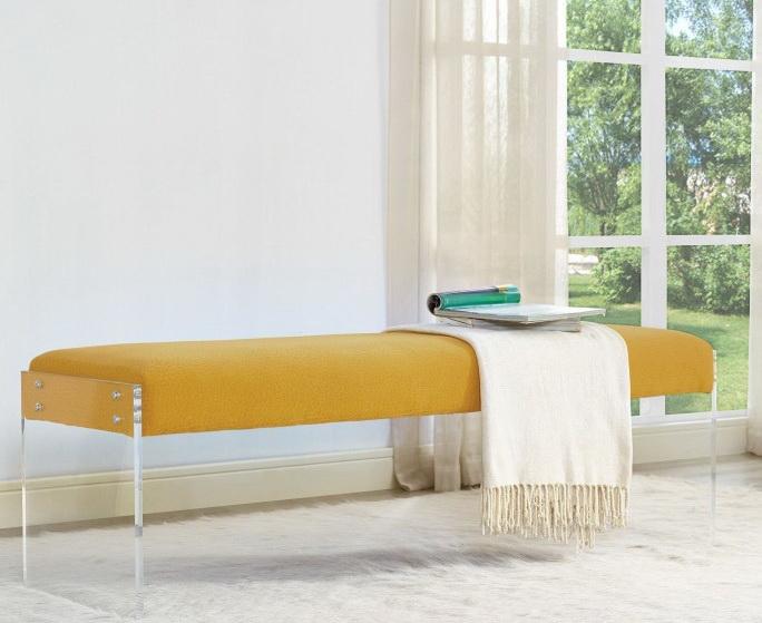sunshine yellow pebbled bench las vegas