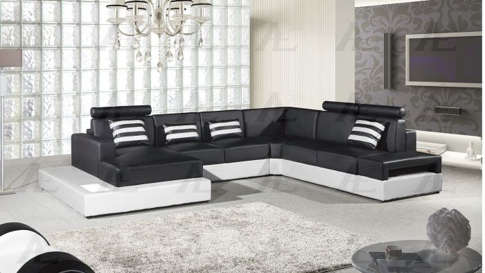 black and white faux leather sectional las vegas