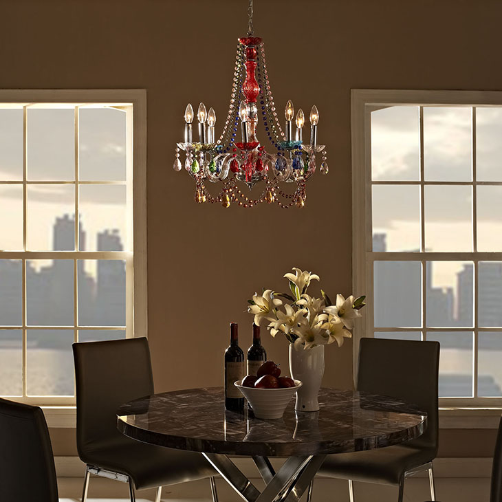 Palace Multicolored Acrylic Chandelier