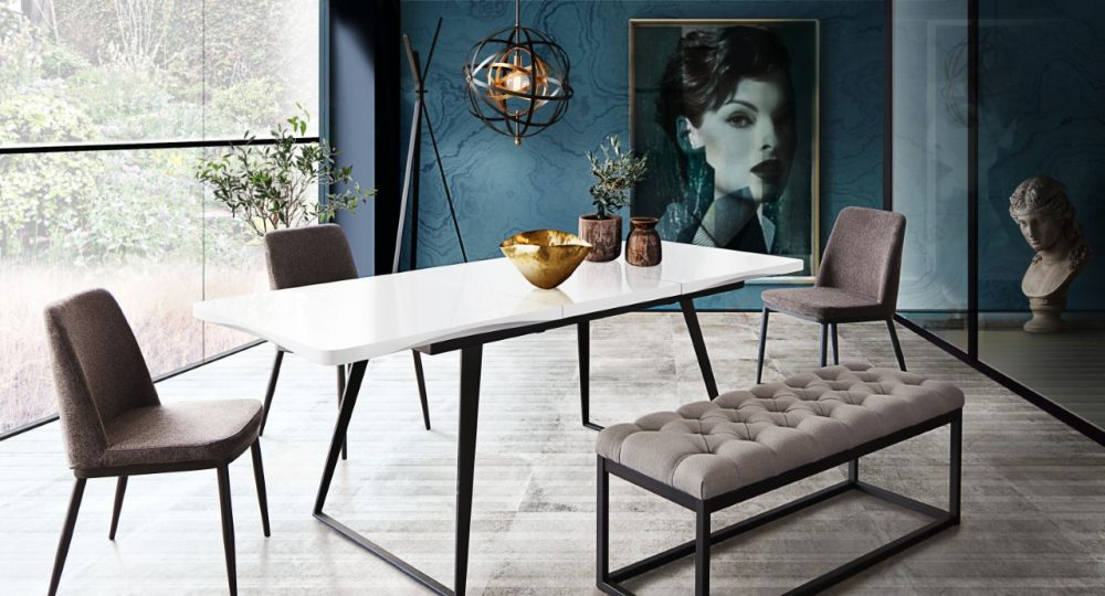 tempo white dining table
