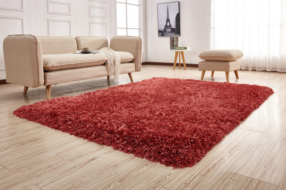 crystal shag peach area rug