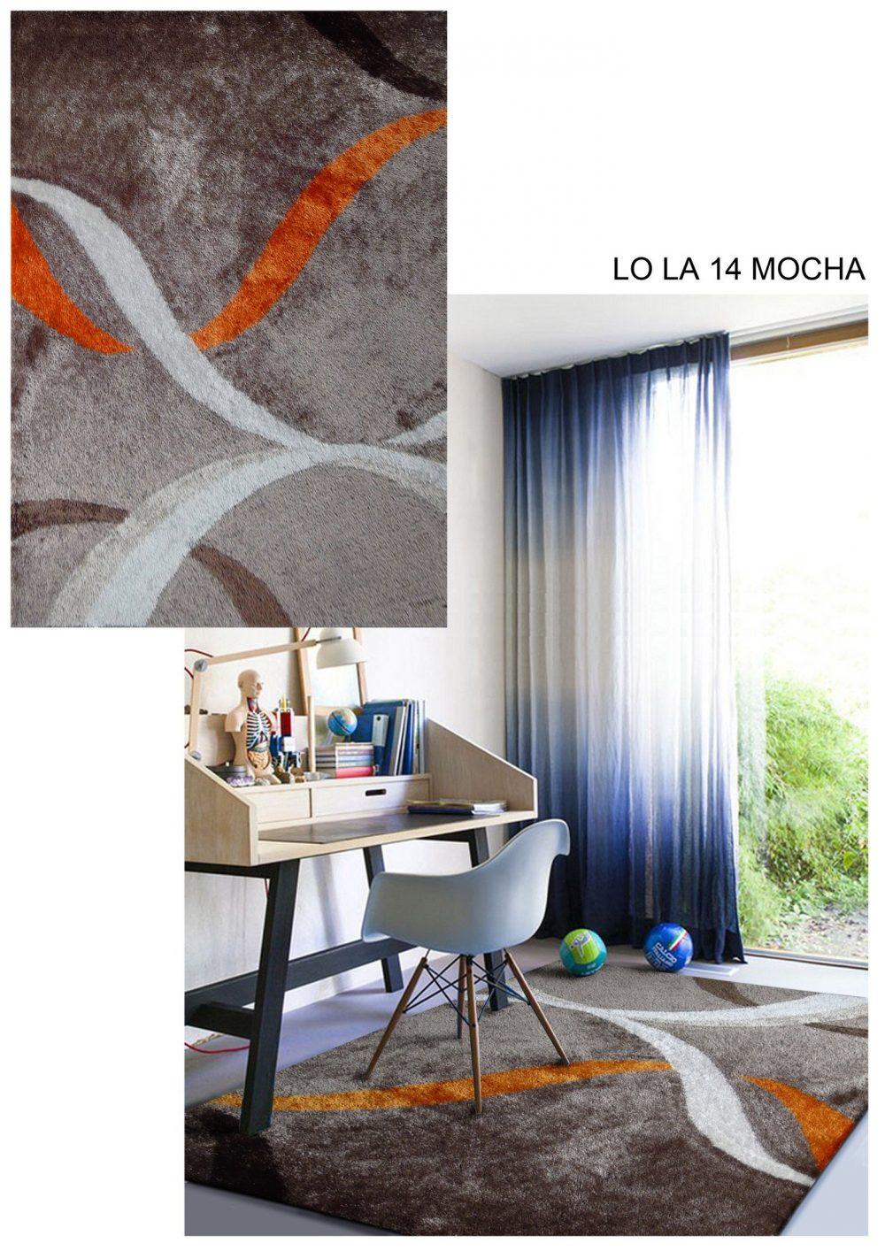 lola 14 mocha orange area rug