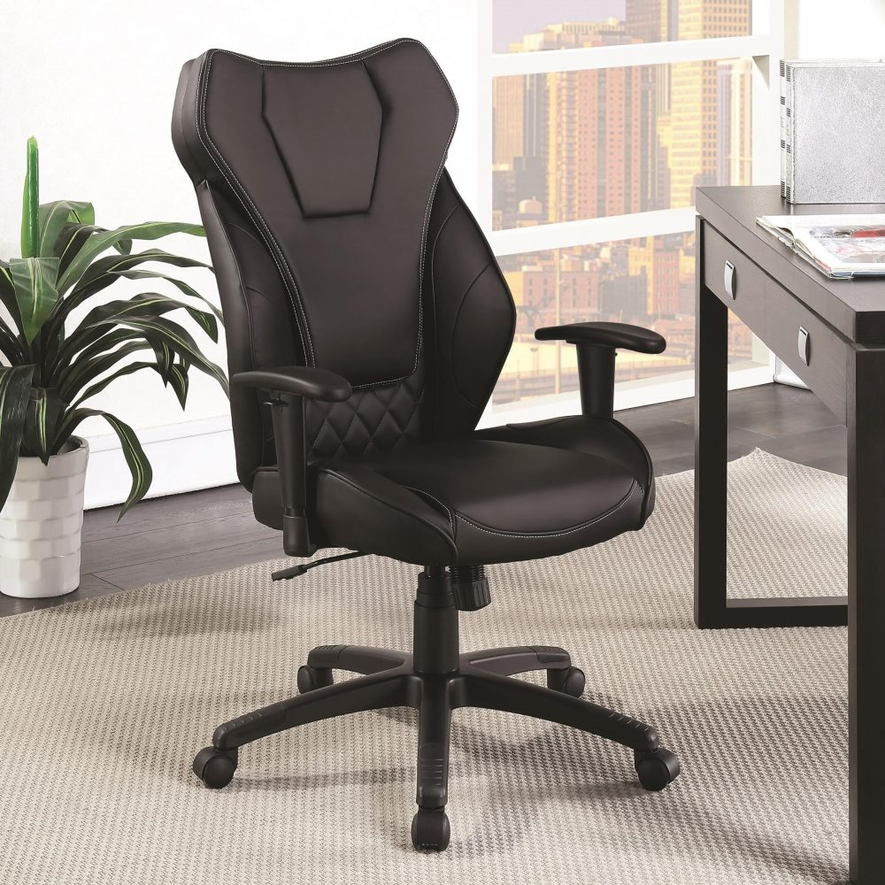 black contemporary office chair