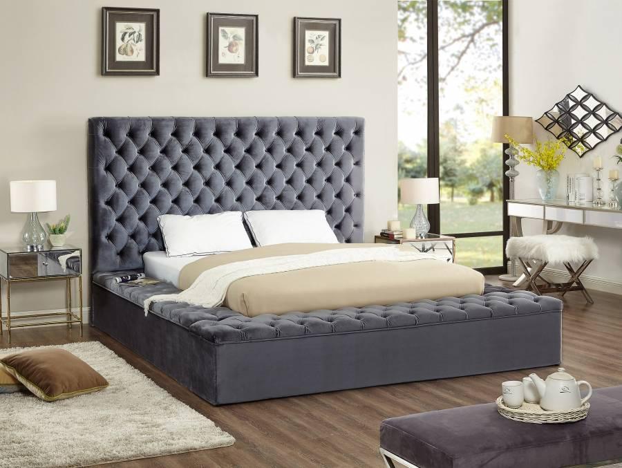 Bliss Velvet Bed Frame With Storage Las Vegas Furniture