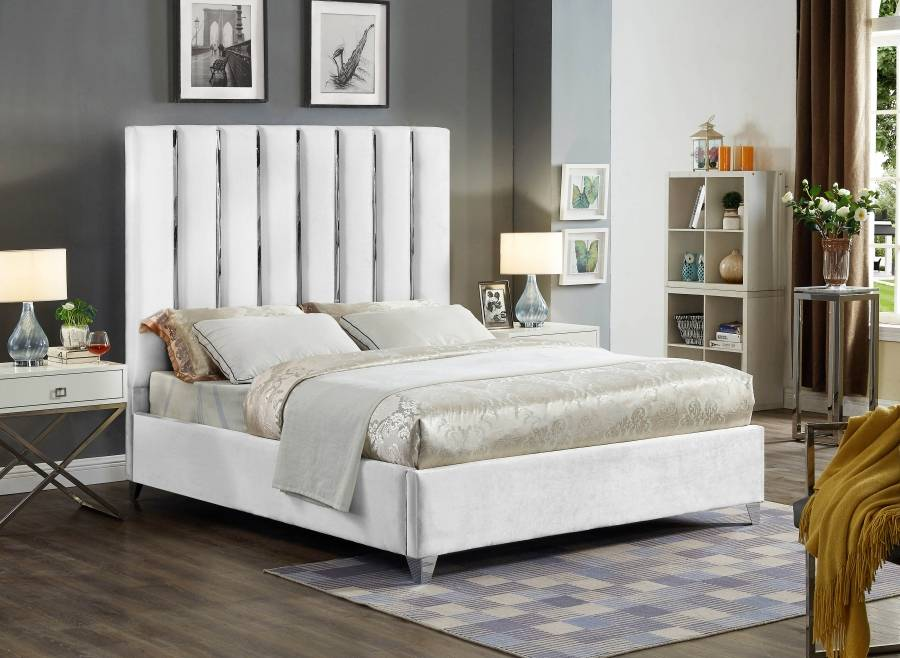 Enzo 2023-2 white bed frame