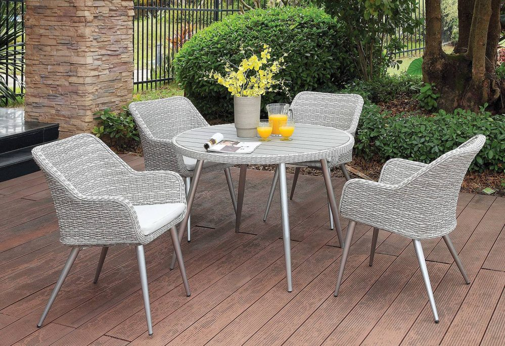 CM-OT1866-RT round silver patio collection
