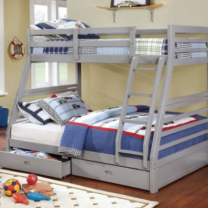 grey twin full bunkbed