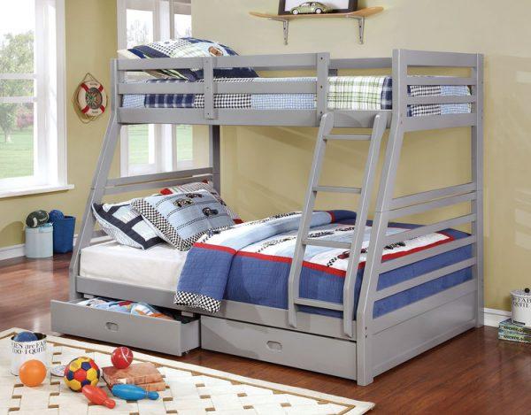 grey twin full bunkbed
