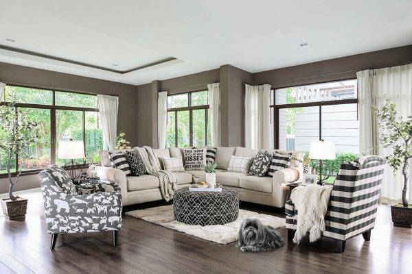 Patricia fabric sectional