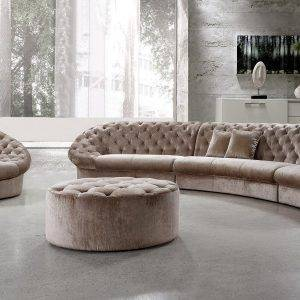 Cosmopolitan Sectional Sofa with Chair and Ottoman