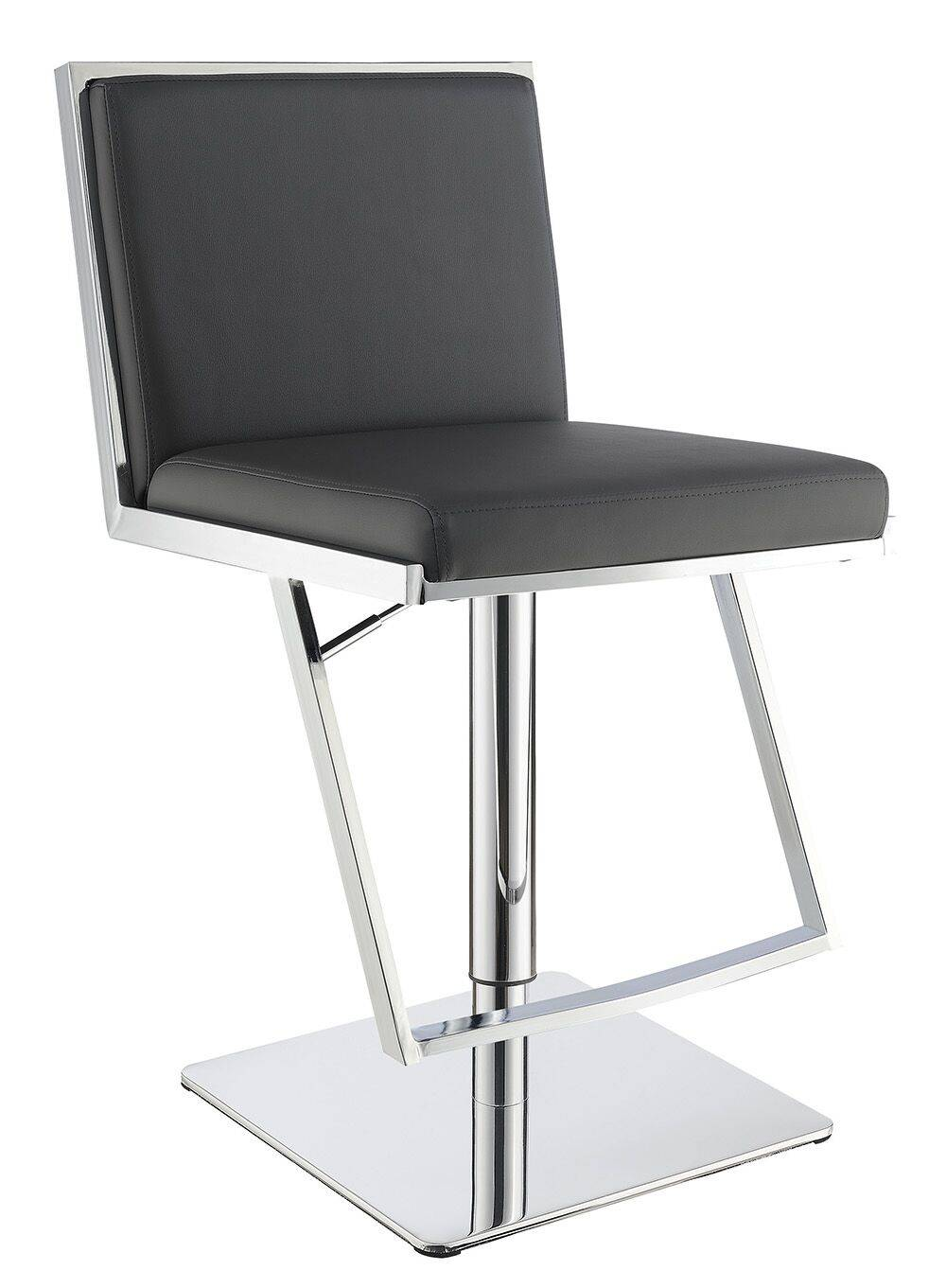 Dixon grey leatherette barstool modern
