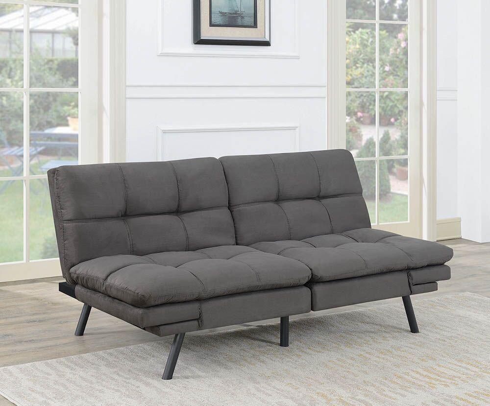Havana Dark Grey Microsuede Sofa Futon
