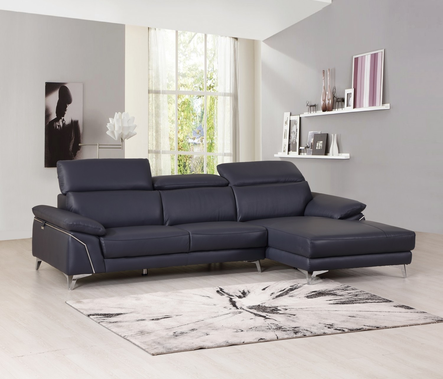 GLO 727 BLACK RFC SECTIONAL 1