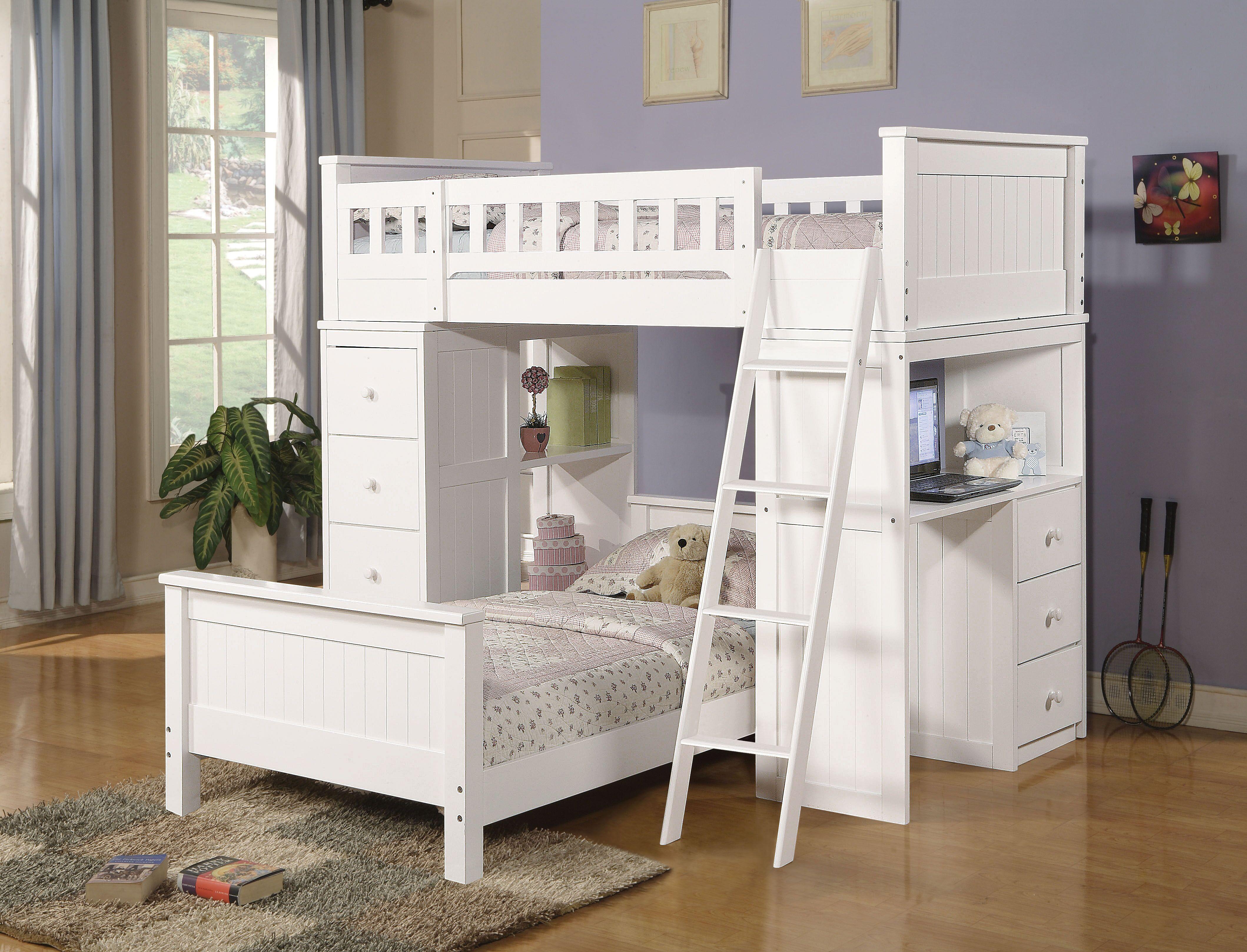 AC 10970 WHITE LOFT BED