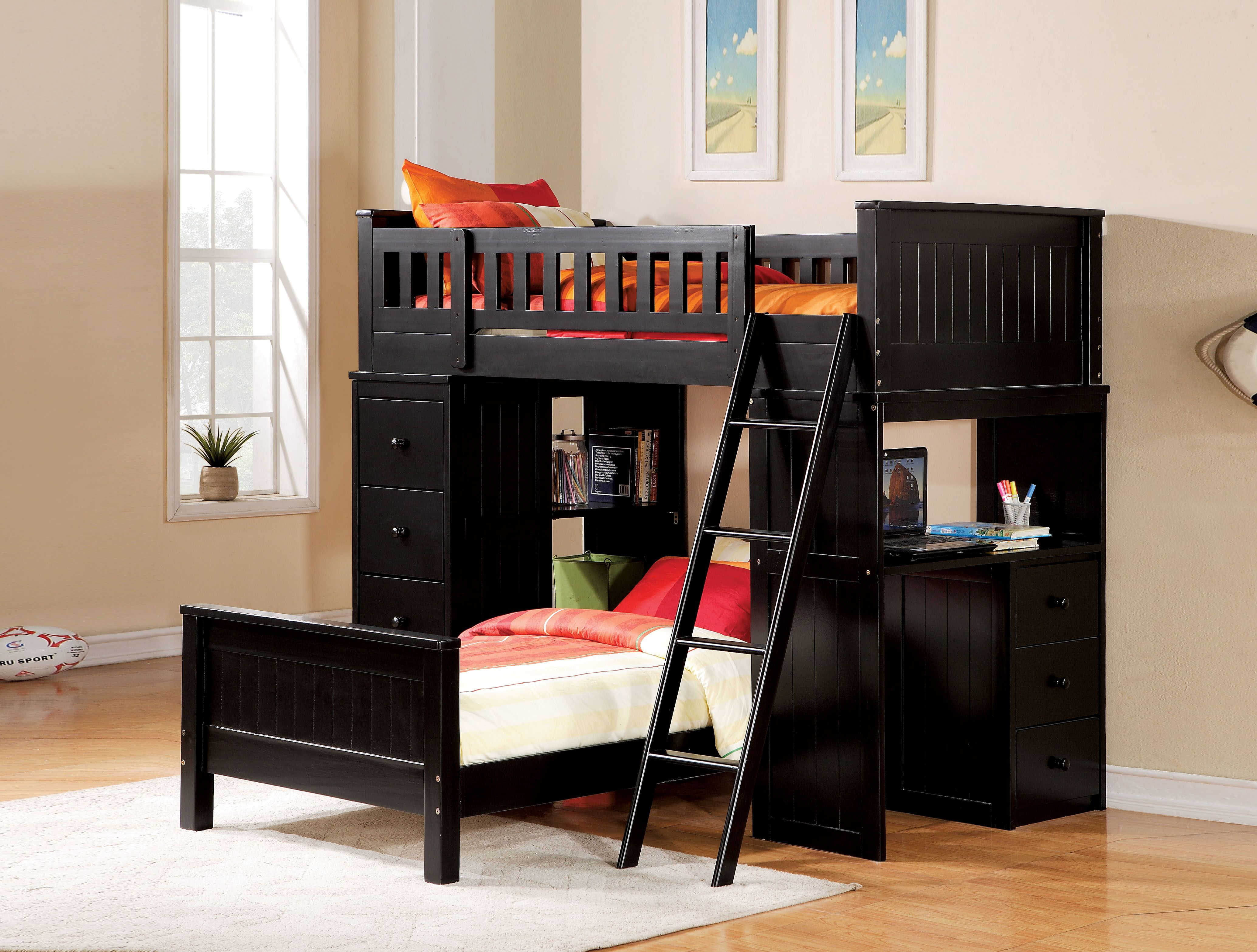 AC 10980 BLACK LOFT BED