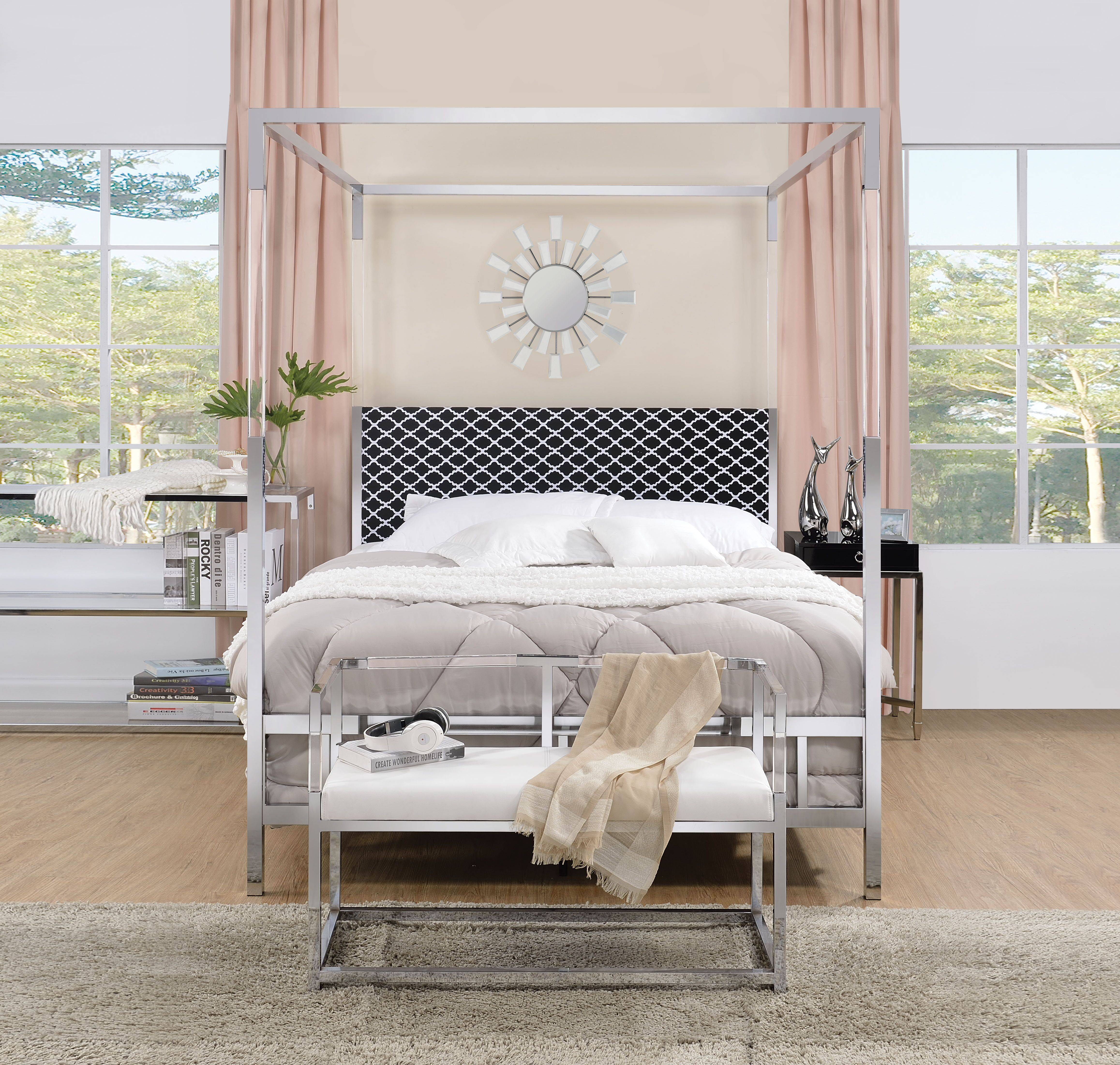 AC 22660 SILVER CANOPY BED