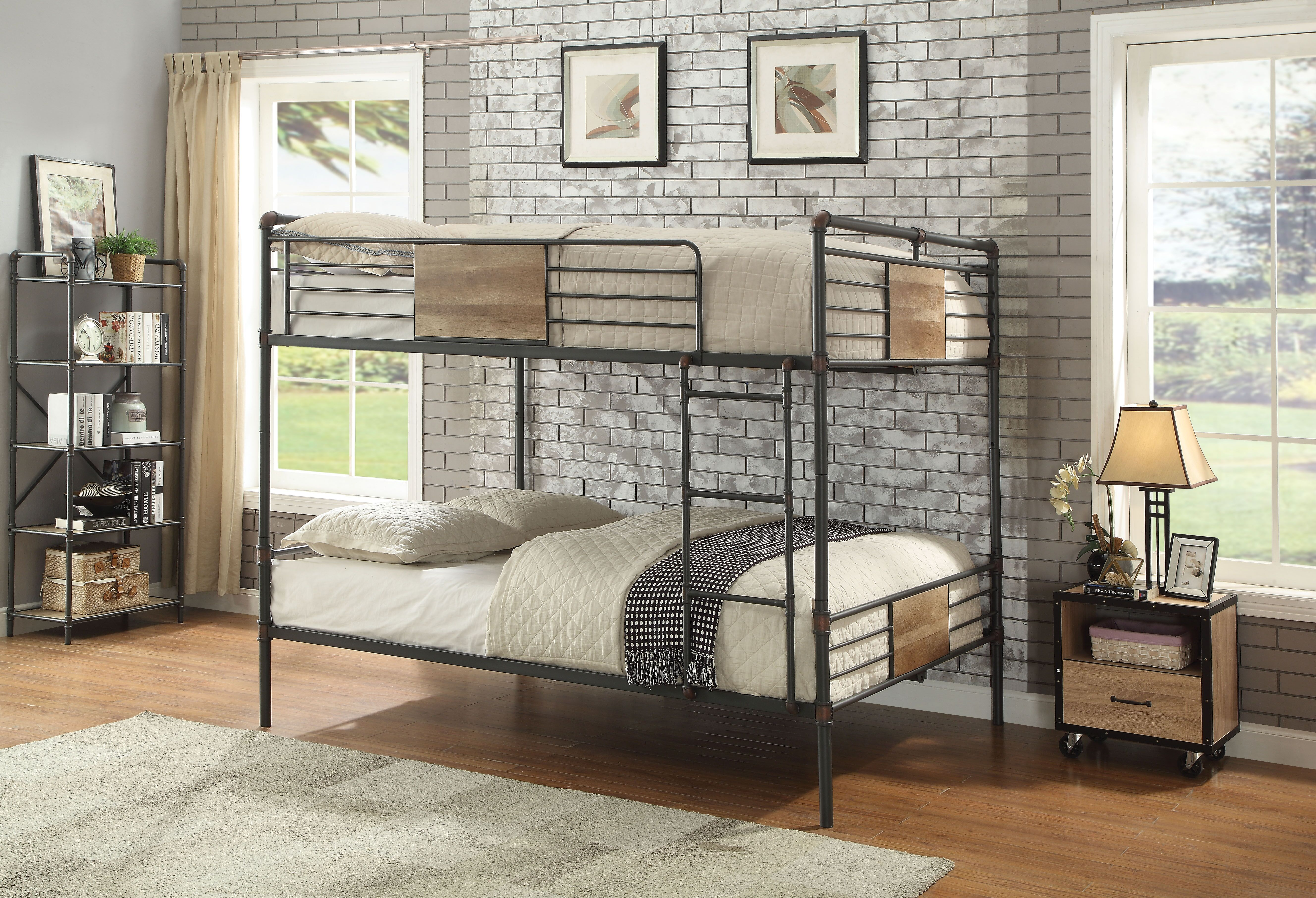 AC 37720 BRANTLEY QUEEN QUEEN BUNK BED