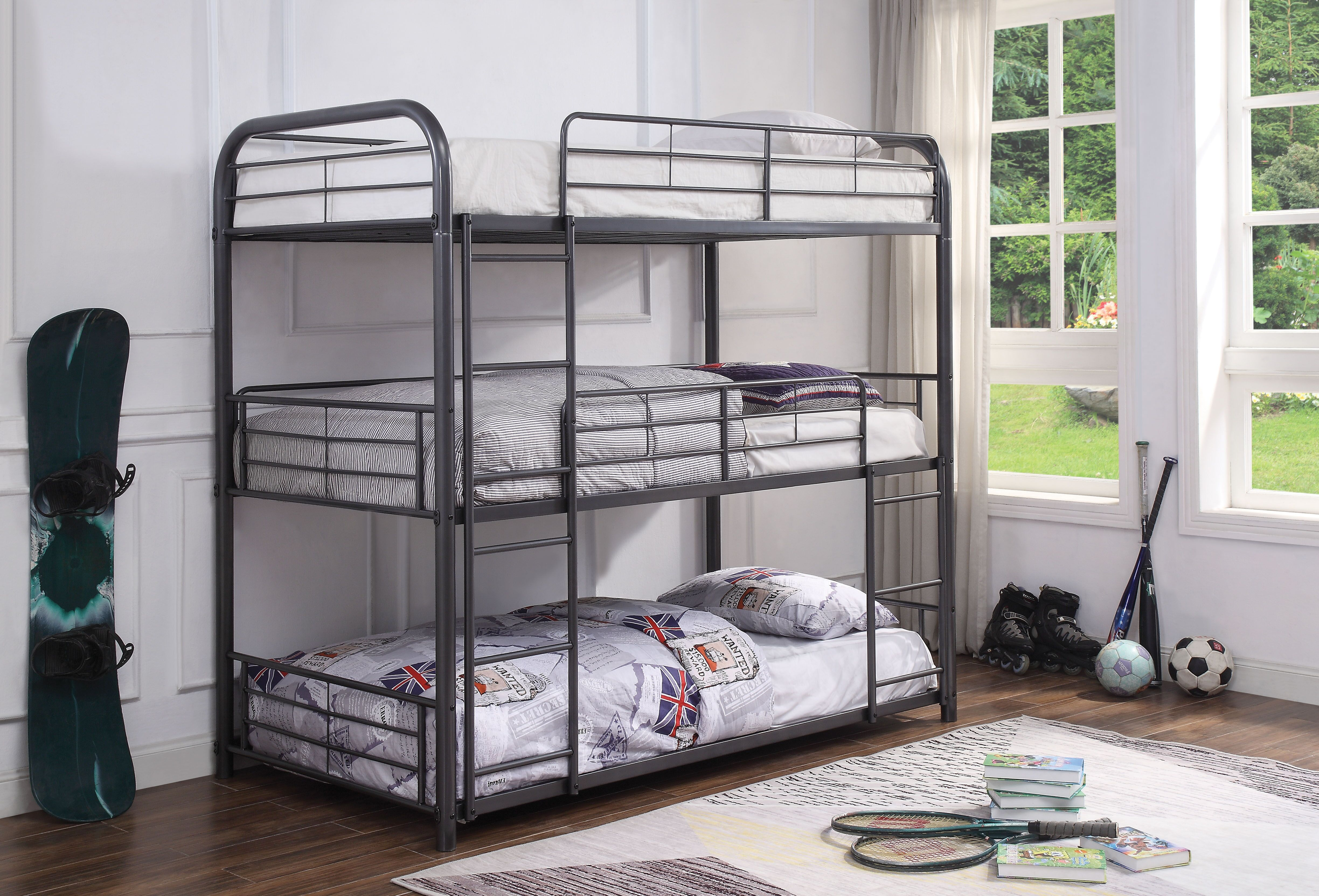 AC 38090-38095 CAIRO GUNMETAL BUNK BED