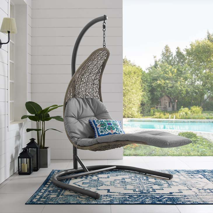 Landscape Hanging Patio Lounge Chaise Swing Chair ...