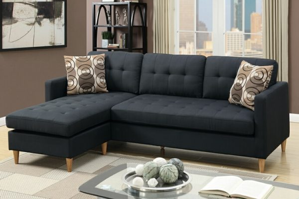 Samantha Small Mid Century Reversible Sectional Las