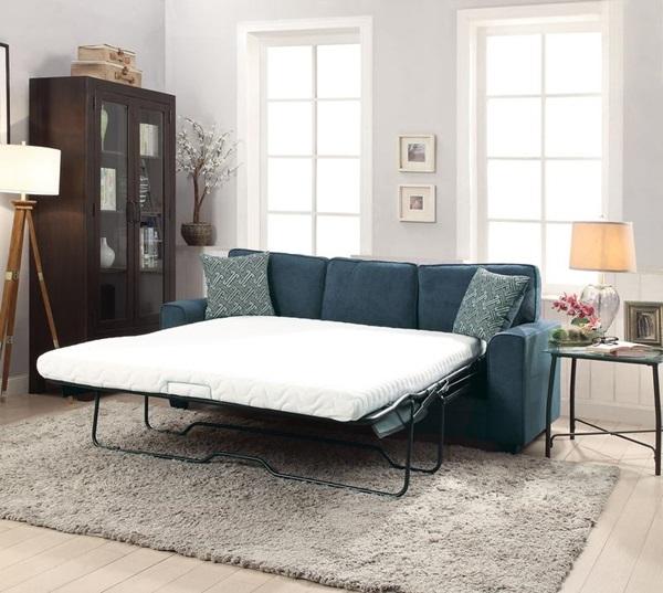 Catherine Blue Sofa With Sleeper Las Vegas Furniture