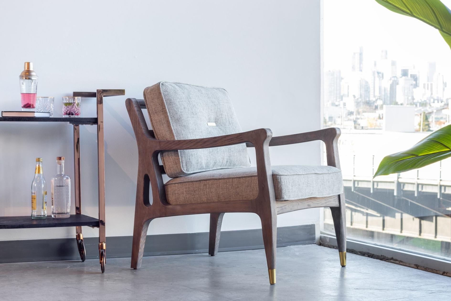Dante Light Grey Arm Chair Las Vegas Furniture Store