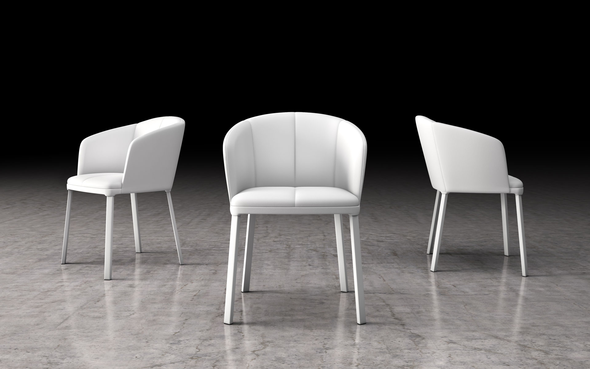 Pleasant Como White Eco Leather Dining Chair Andrewgaddart Wooden Chair Designs For Living Room Andrewgaddartcom
