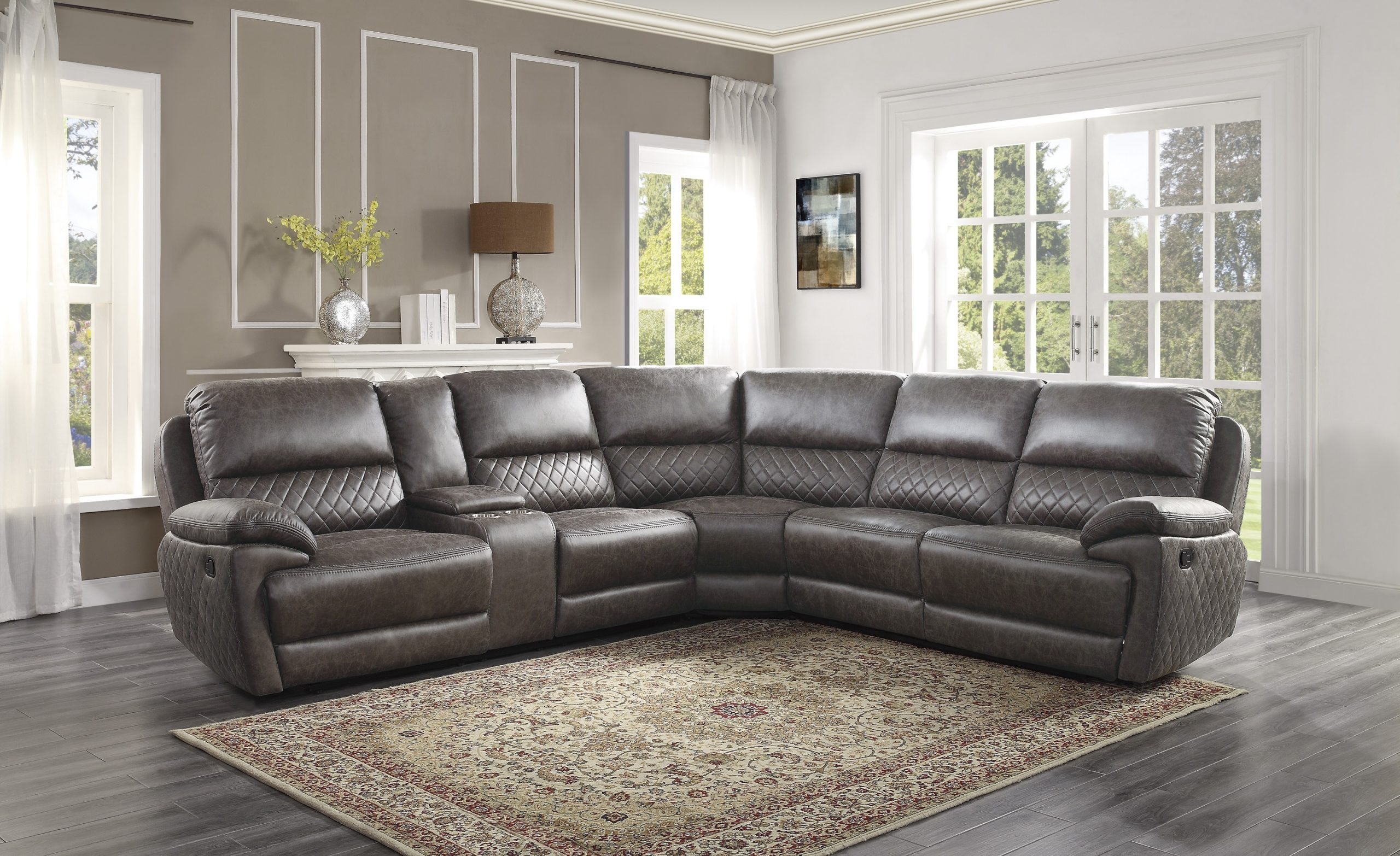 9510 recliner sectional