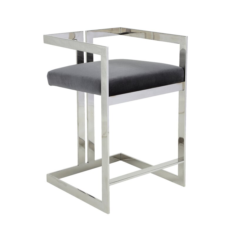 Kenzie grey counter stool