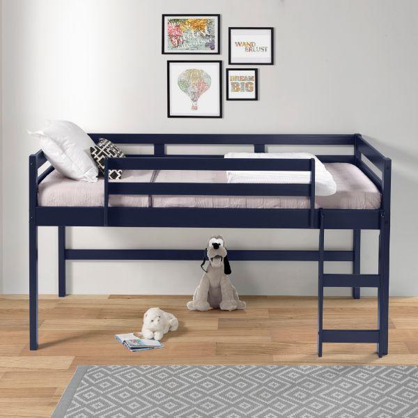 twin blue loft bed E38260
