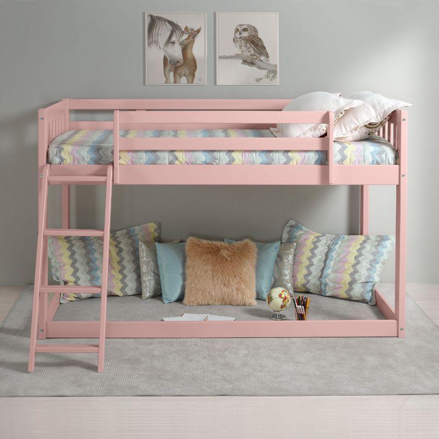 twin pink loft bed 38210