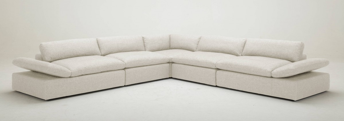 Kelly light grey sectional