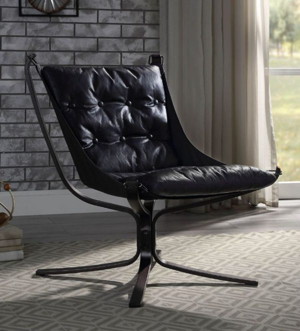 Carney blue Leather chair